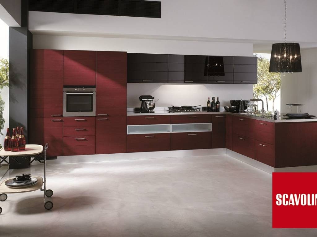 Cucine Rosse. Stunning Cucina Laccata Rossa Ad Angolo Idfdesign With ...