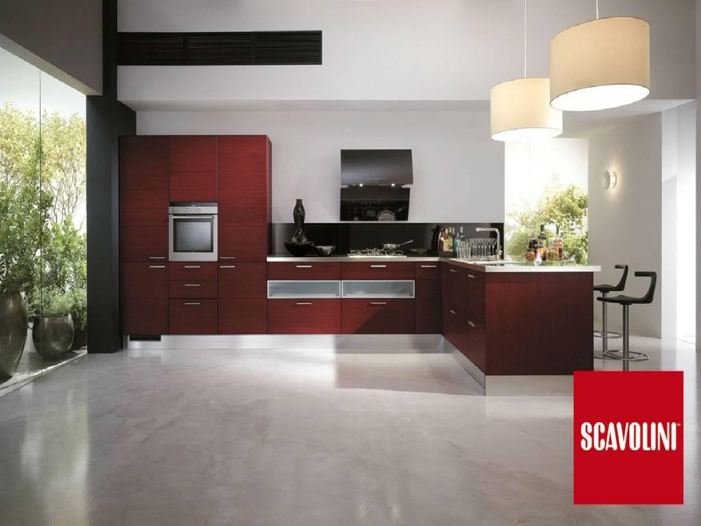 Cucine Rosse Scavolini: Foto cucina crystal con ante in vetro ...