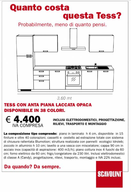Cucine Scavolini cucine scavolini materiali : Cucina Tess Scavolini vendita di Cucine a Roma